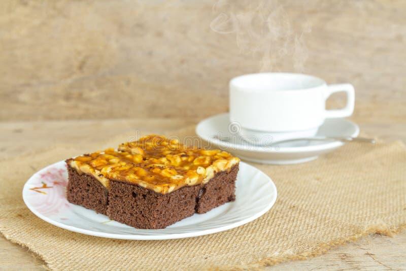 Toffee cake cashew royalty free stock photos