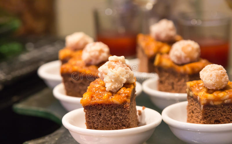 Download Toffee cake in small dish stock photo. Image of taste - 33403670