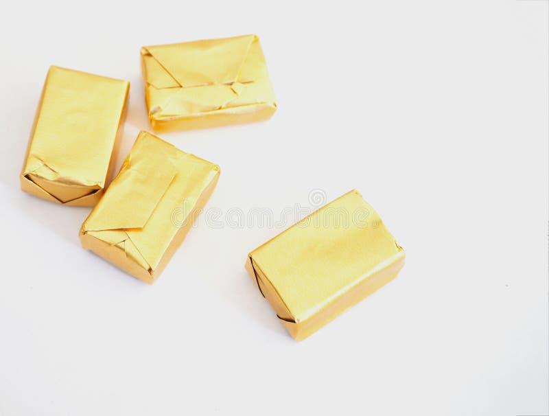 Toffee i złota opakowanie zdjęcie royalty free