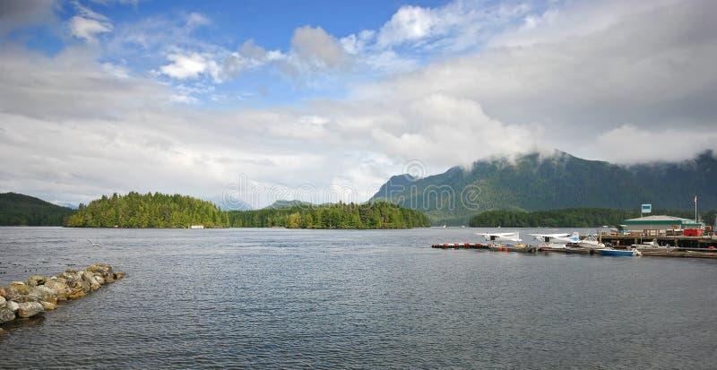 Tofino canada. A view of the bay from tofino canada bc stock image