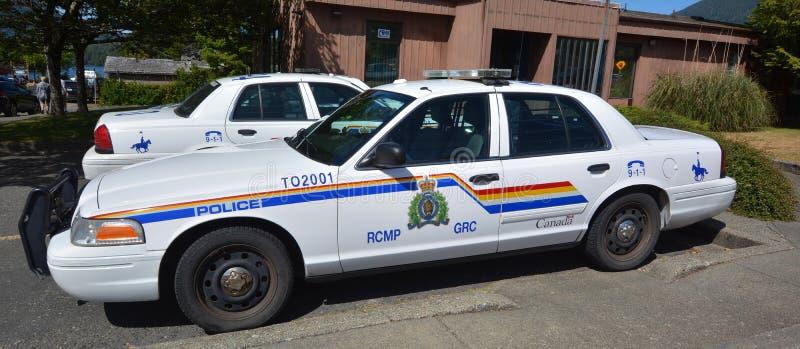 Tofino RCMP polisbil royaltyfri bild