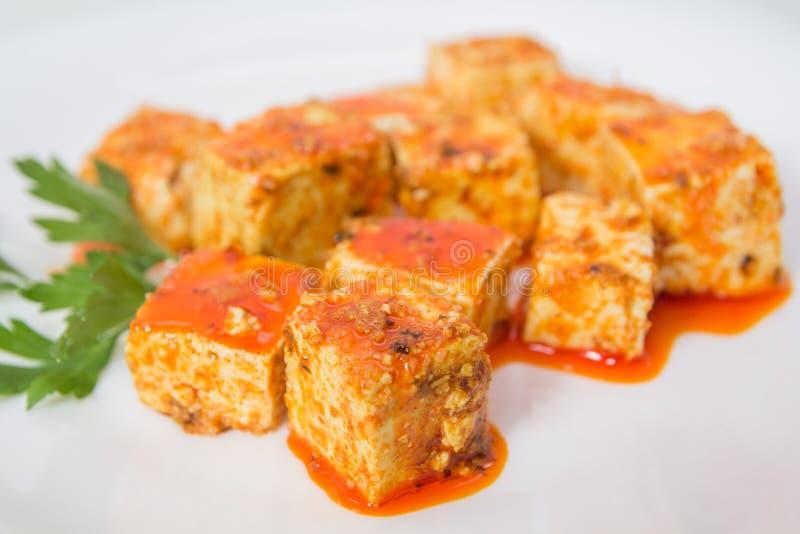 Tofu και σάλτσα στοκ εικόνα με δικαίωμα ελεύθερης χρήσης
