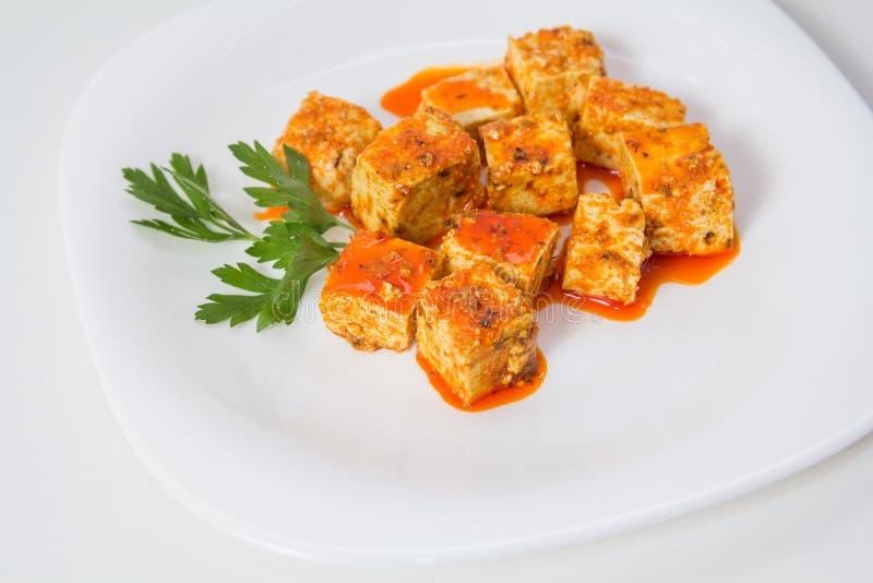 Tofu και σάλτσα στοκ φωτογραφία
