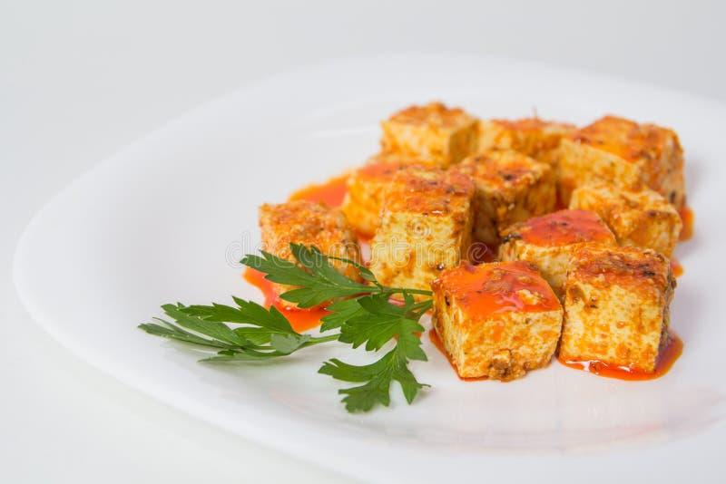 Tofu και σάλτσα στοκ εικόνες
