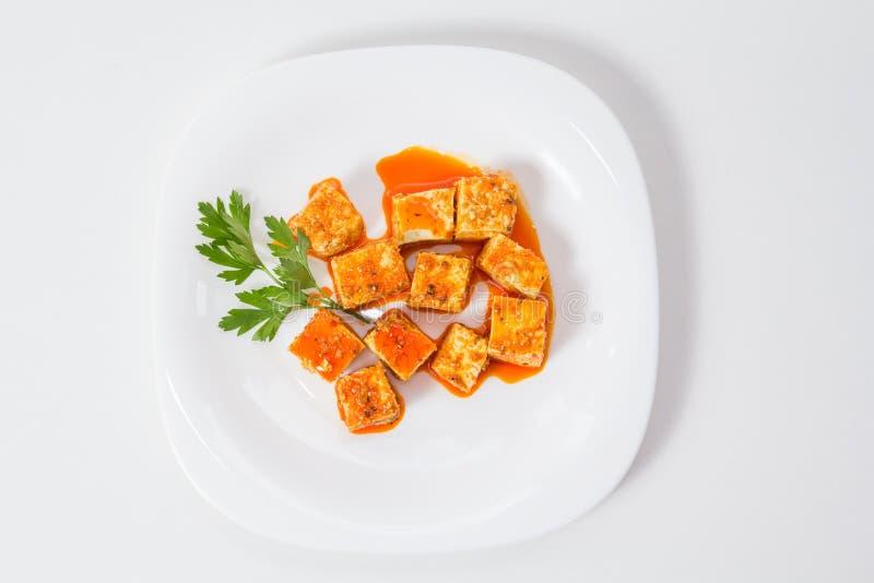 Tofu και σάλτσα στοκ φωτογραφίες με δικαίωμα ελεύθερης χρήσης