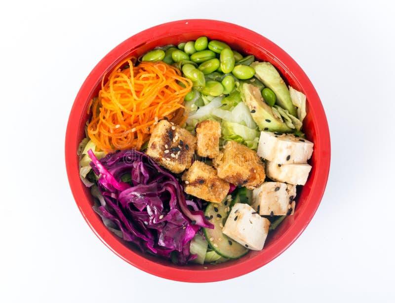 Tofu χορτοφάγο κύπελλο σπρωξίματος στοκ φωτογραφία