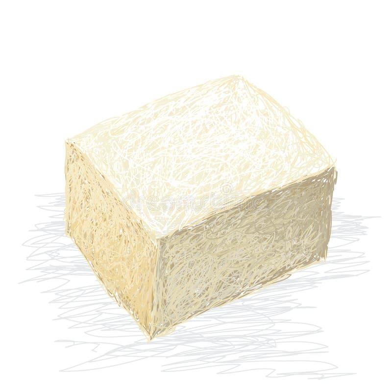 Tofu ilustração do vetor