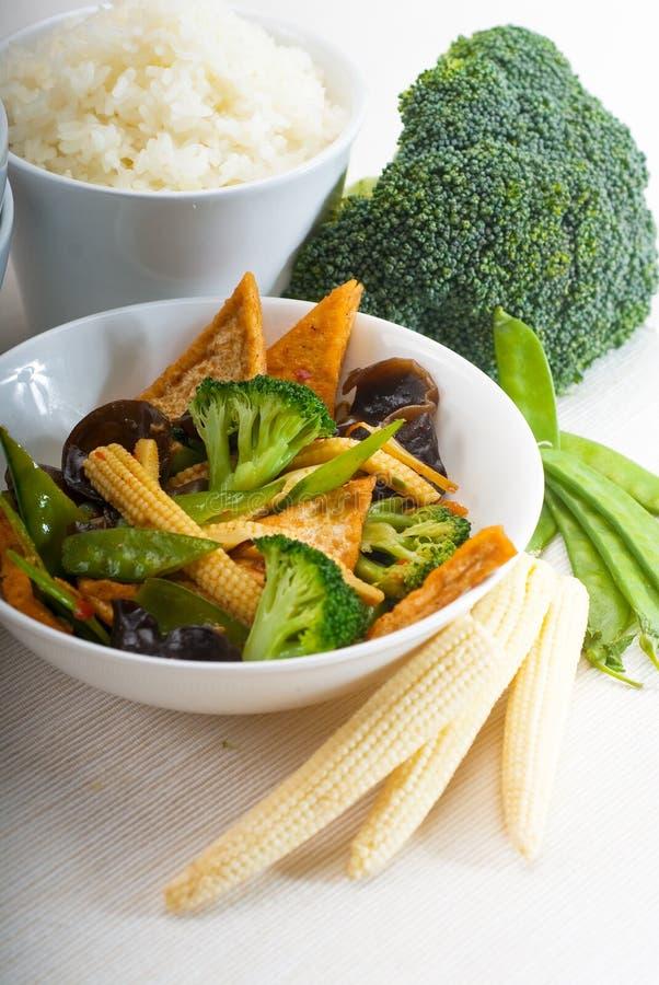 Tofu beancurd and vegetables