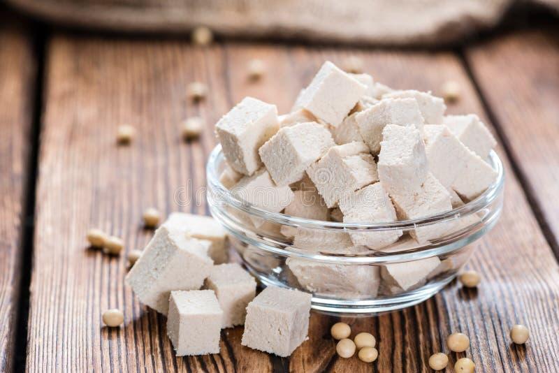 Tofu découpé photographie stock libre de droits
