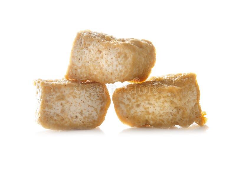 Tofu do coalho de feijão sobre o fundo branco foto de stock