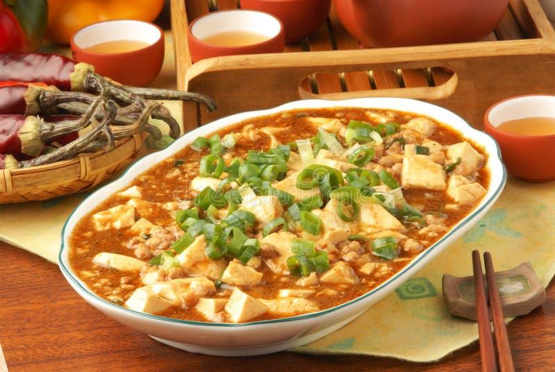 tofu mapo στοκ εικόνες
