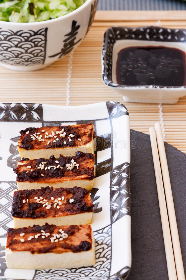Tofu With Miso Marinade Royalty Free Stock Images