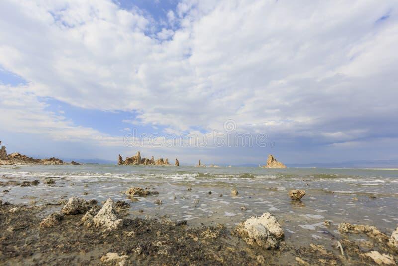 Tofu, mono lago com céu azul foto de stock royalty free