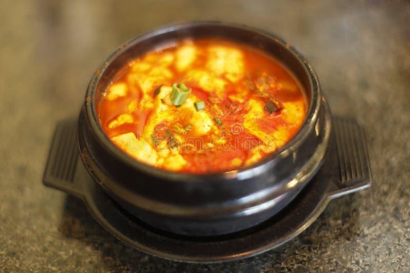 Tofu soup royalty free stock photography