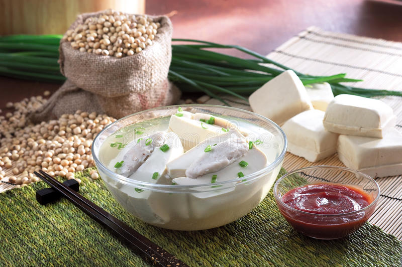 Tofu soup stock photography