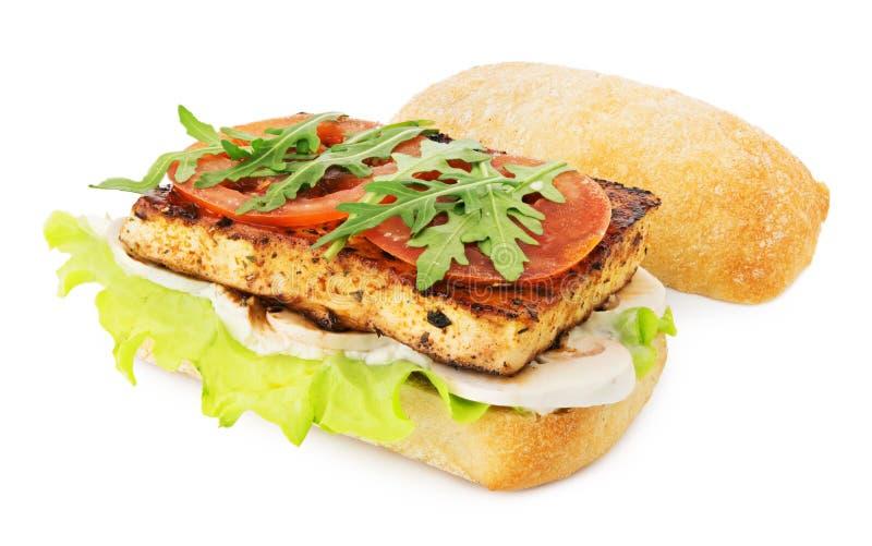 Tofu Vegan σάντουιτς στοκ φωτογραφίες με δικαίωμα ελεύθερης χρήσης