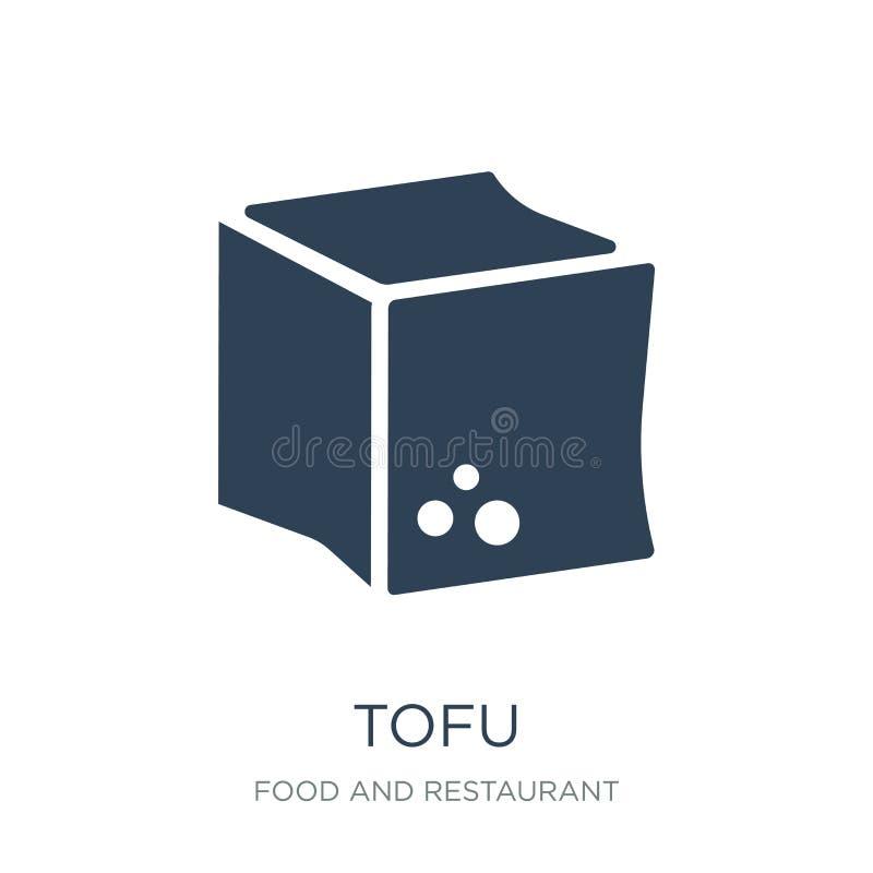 tofusymbol i moderiktig designstil tofusymbol som isoleras på vit bakgrund enkelt och modernt plant symbol för tofuvektorsymbol f stock illustrationer