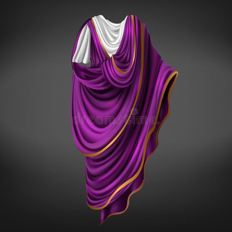 Toge romaine Commandant antique, robe masculine d'empereur illustration libre de droits