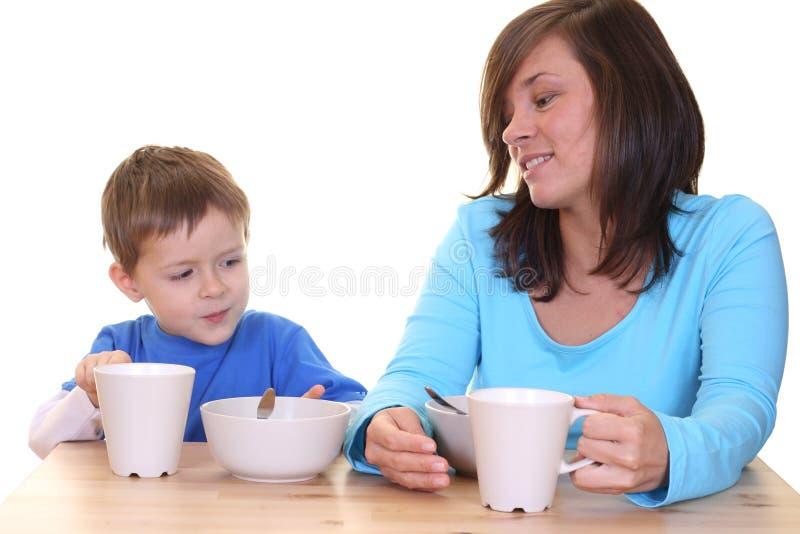 Togeter della prima colazione fotografie stock