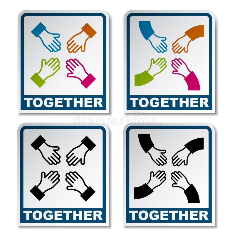 Download Together Aiming Hands Sticker Stock Vector - Illustration of design, contour: 23413131