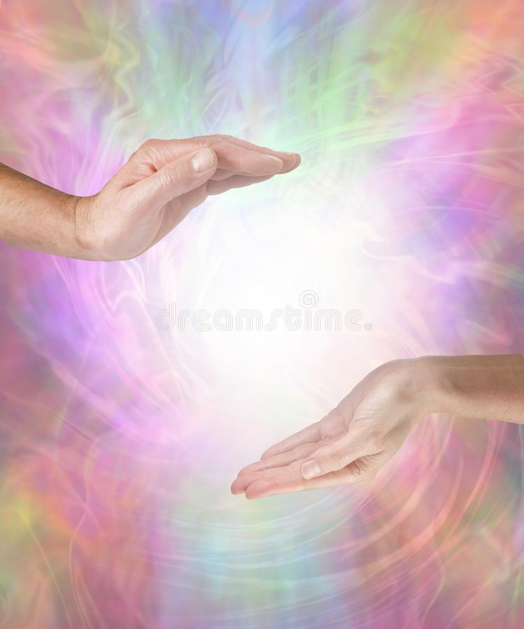 Together we can create a Beautiful Vortex Energy Field stock photography