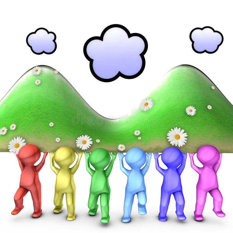 Download Together We Can Move Big Mountains Stock Illustration - Image: 24103681