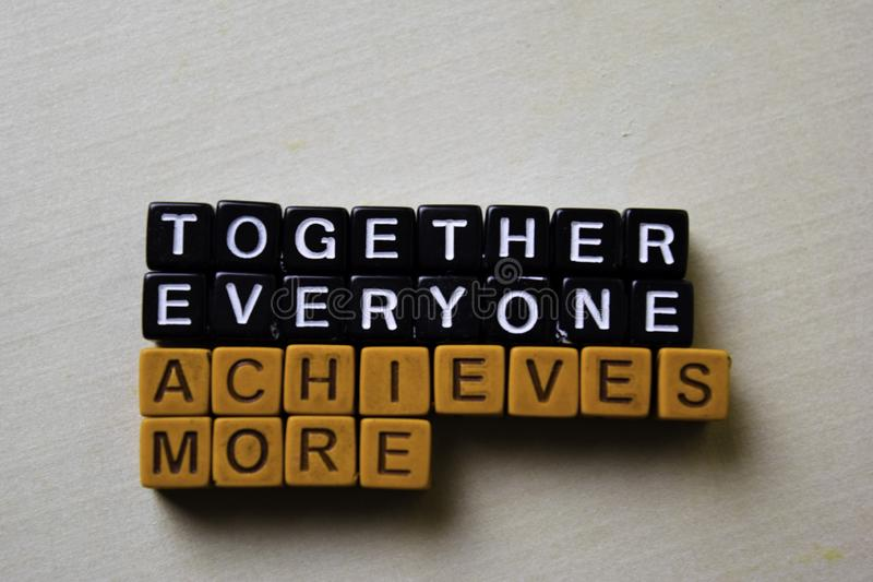 Together Everyone Achieves More TEAM on wooden blocks. Business and inspiration concept royalty free stock image