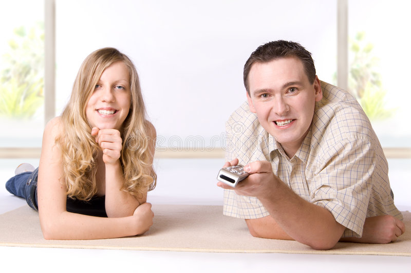 Together In The Room stock photography