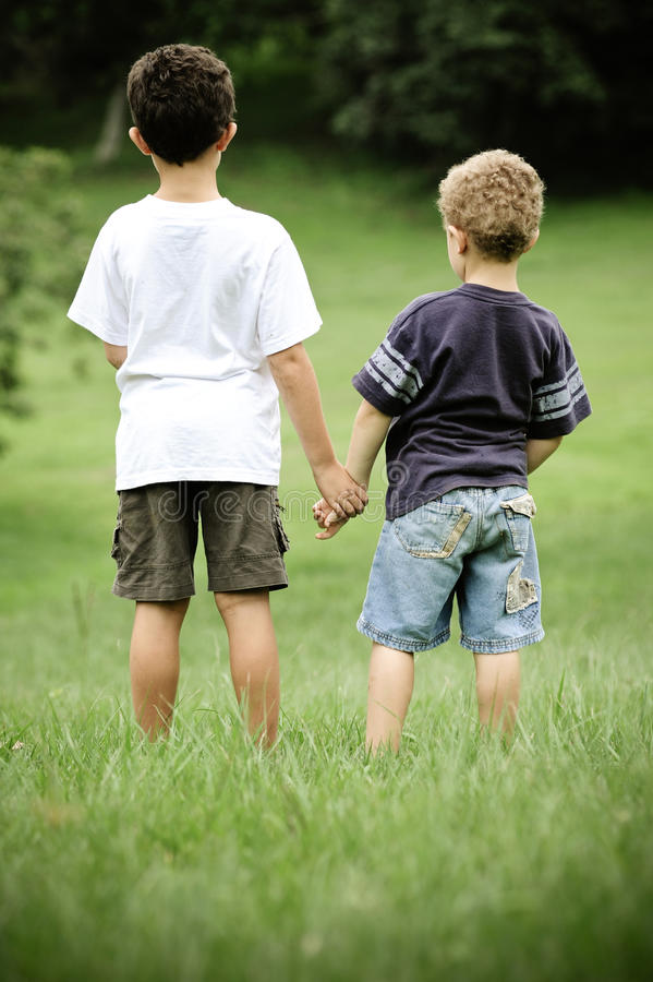Download Together we stand stock photo. Image of blue, childhood - 13354196