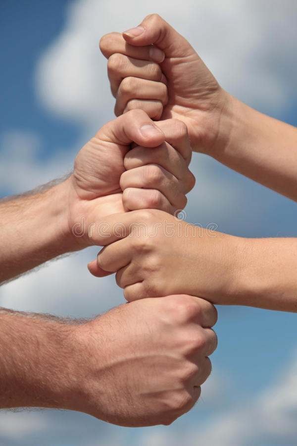 Together we stand as one royalty free stock photo