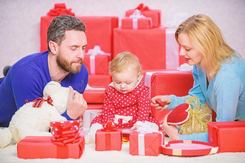 Together on valentines day. Lovely family celebrating valentines day. Happy be parents. Perfect celebration. Family royalty free stock images