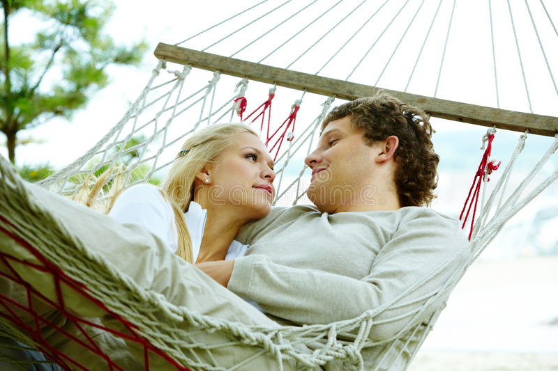 Download Togetherness stock photo. Image of outdoor, hammock, male - 23868592