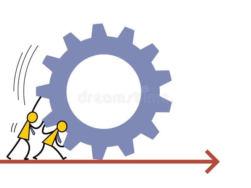 togetherness ilustración del vector