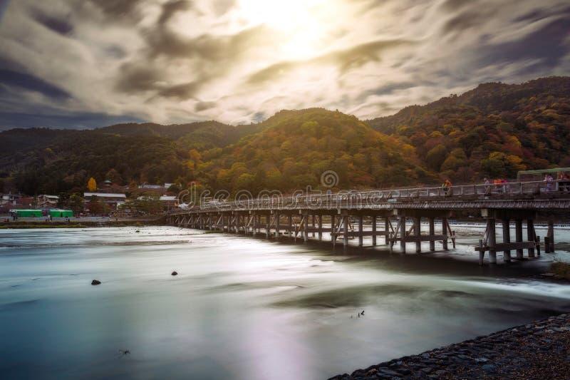 Togetsukyo Bridge in Arashiyama royalty free stock photo