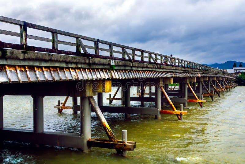 Togetsukyo Bridge, Bridge across river, Kyoto, Japan royalty free stock photos