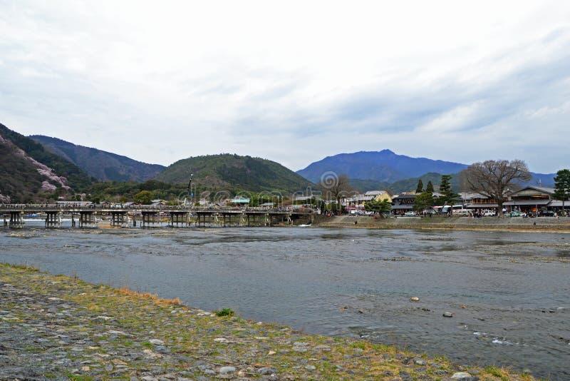 Togetsukyo mostu księżyc mostu skrzyżowanie obraz stock