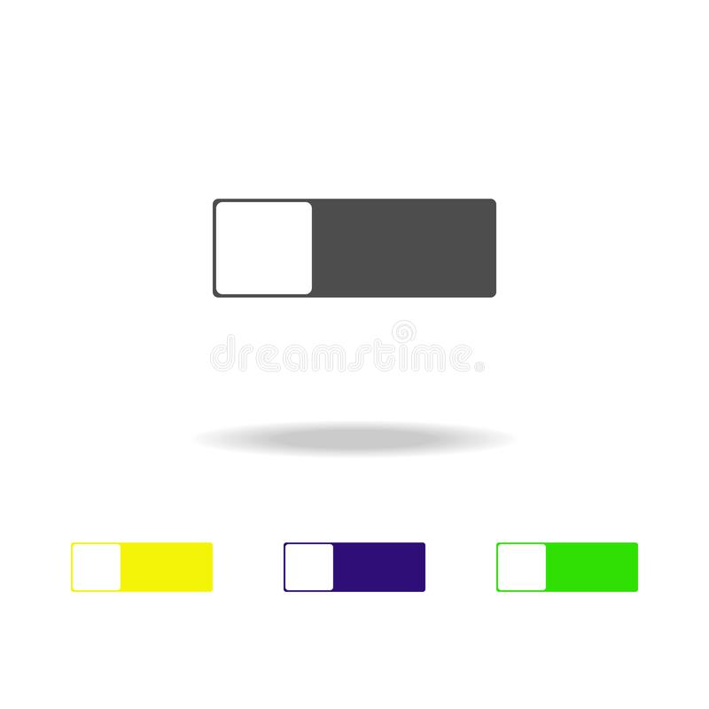 Toggle button multicolor icon. Element of web icons. Signs and symbols icon for websites, web design, mobile app on white backgro. Und with shadow on white stock illustration