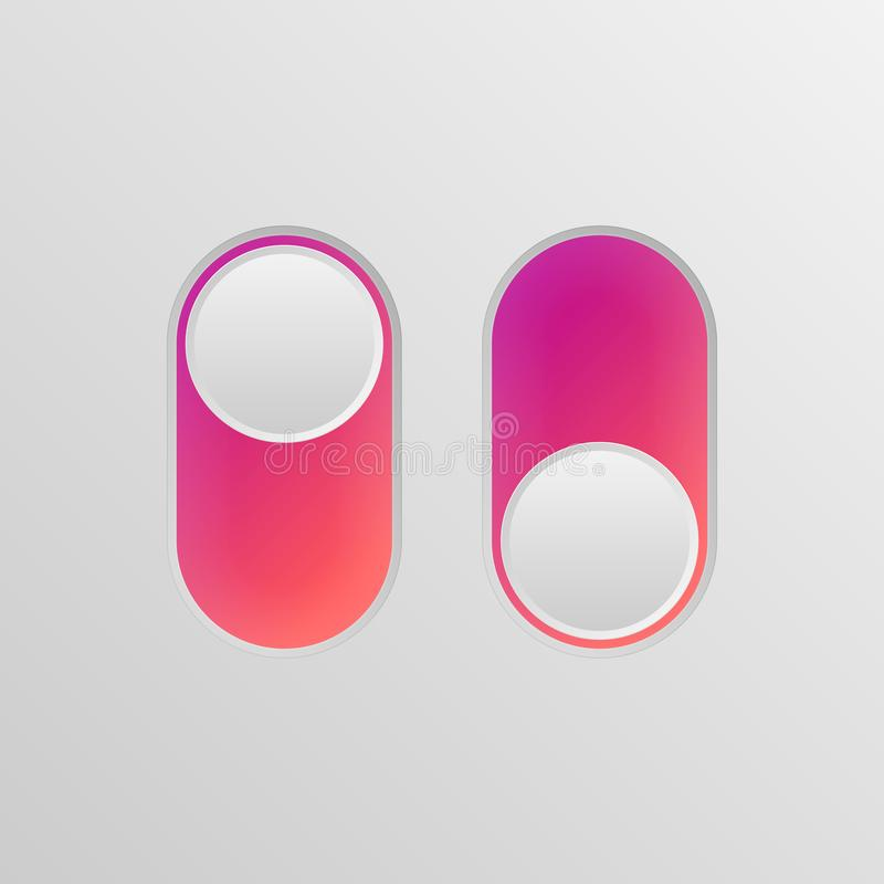 Toggle switch icon vector illustration