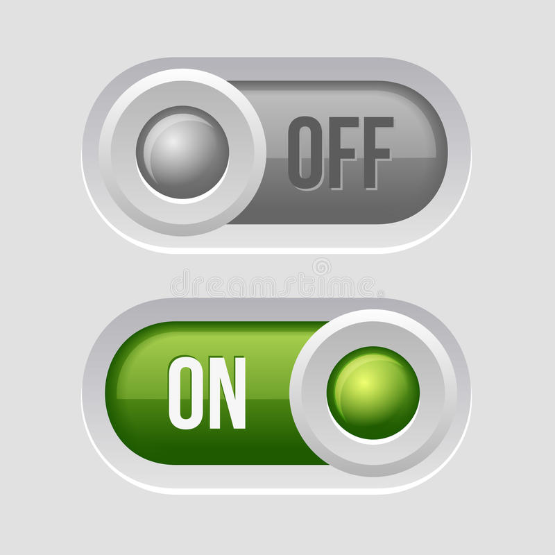 Toggle Switch Sliders On and Off position. Vector Illustration vector illustration