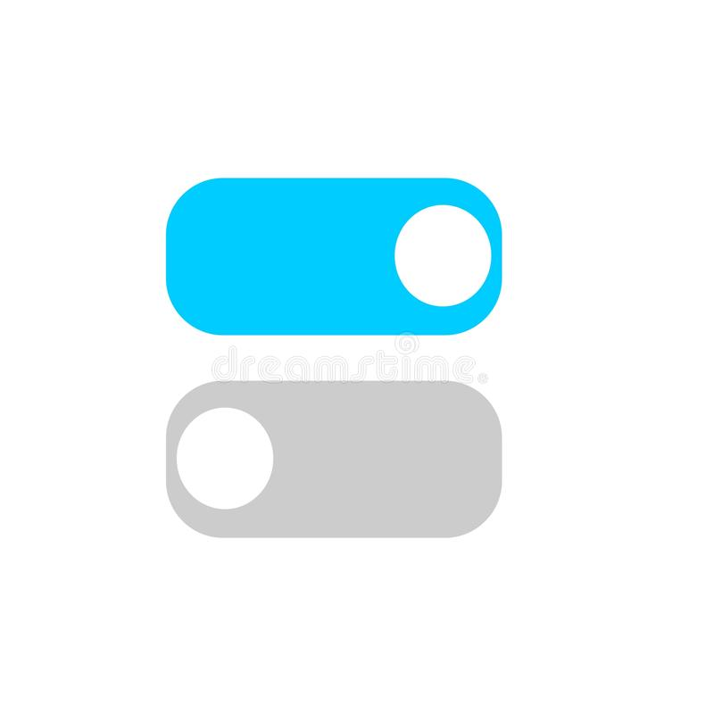 Toggle switch vector icon, On and Off position simple icons. Eps 10 vector illustration