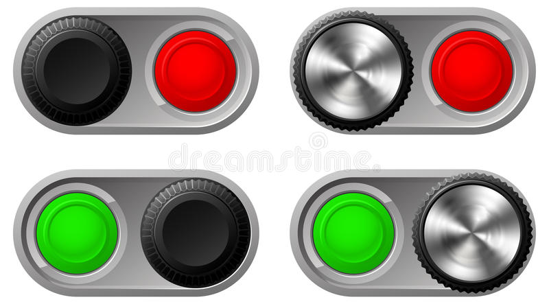 Download Toggle Switches With Green And Red Lights Stock Vector - Image: 22296365