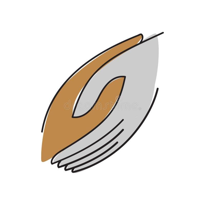 togheter holding helping hand logo vector graphic design illustrations stock illustration