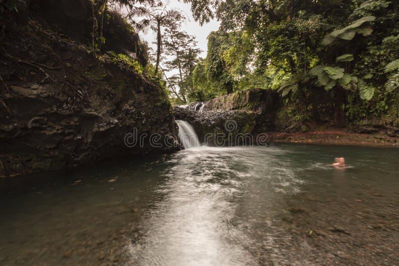 Togitogiga siklawa, Upolu, Samoa obraz royalty free