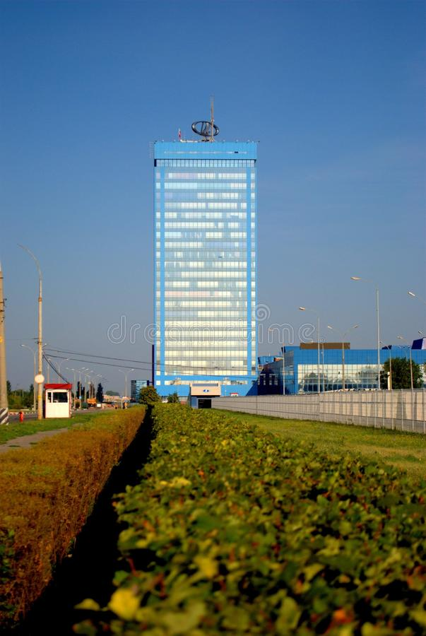 Morning view of the administrative building of JSC AVTOVAZ on the South Highway royalty free stock photo
