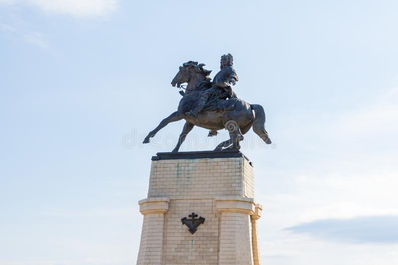 Monument to Vasily Nikitich Tatishchev-the founder of the city stock image