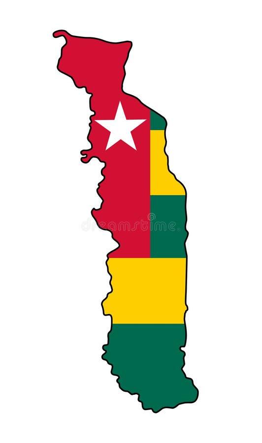 togo Översikt av den Togo vektorillustrationen vektor illustrationer