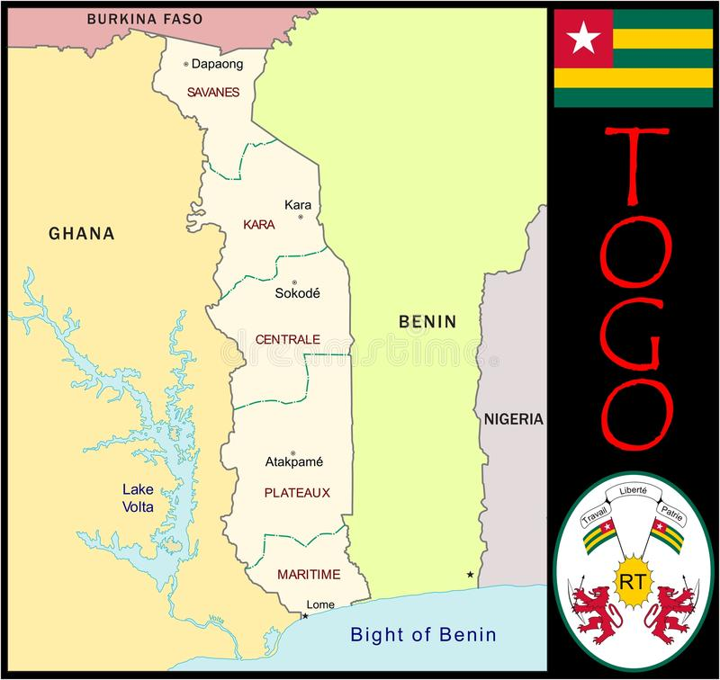Togo Administrative Divisions Stock Illustration Illustration of