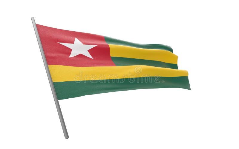 Togo bandery fotografia stock