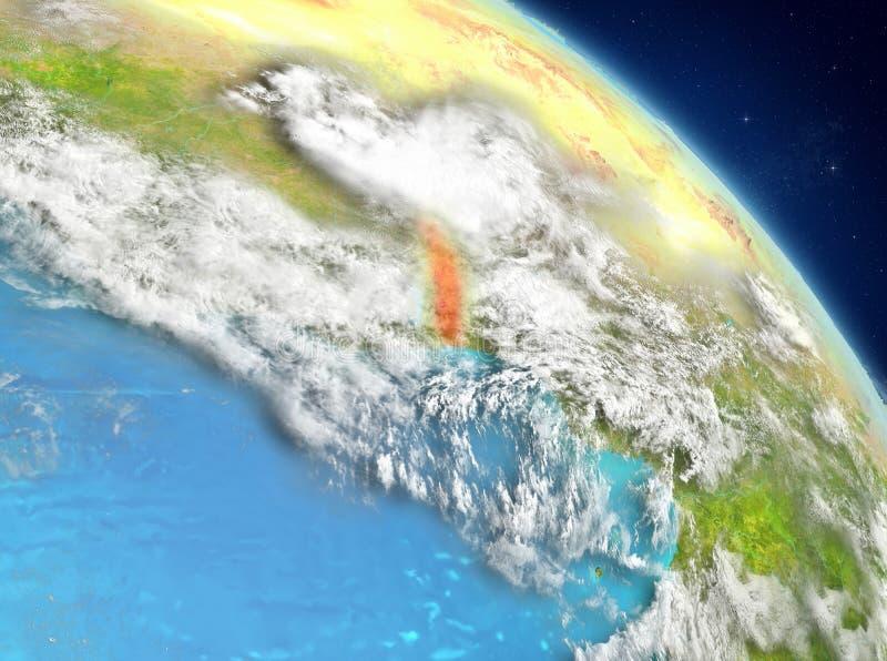 Togo de la órbita ilustración del vector