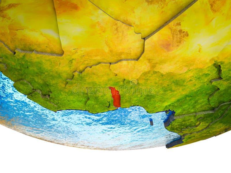 Togo en la tierra 3D libre illustration